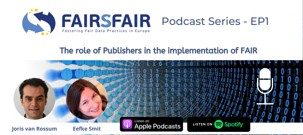 The role of publishers in the implementation of FAIR. Podcasts series
