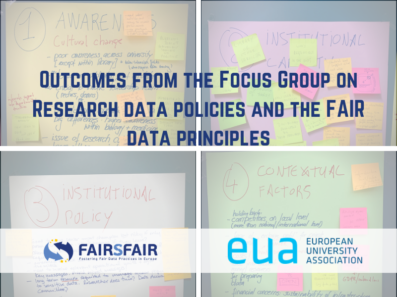 FAIRsFAIR, logo and image of a board