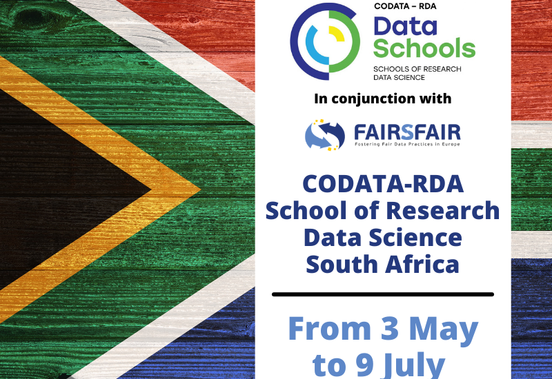 Building data skills: CODATA-RDA School of Research Data Science–South Africa is now underway online