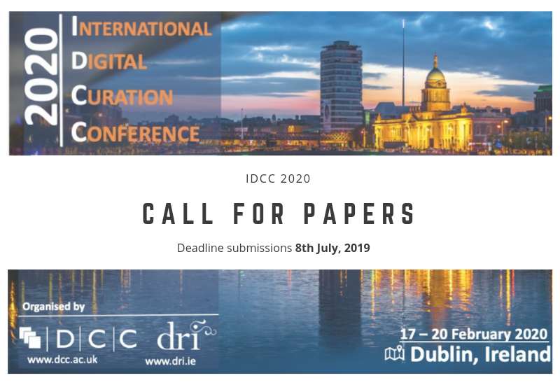 Call for papers for the 15th IDCC conference - Deadline extended