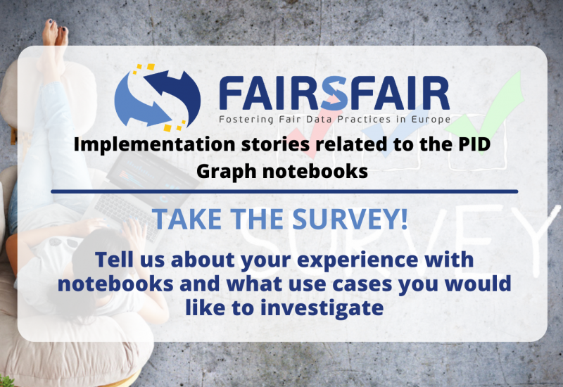 Implementation stories related to the PID Graph notebooks: take the survey!