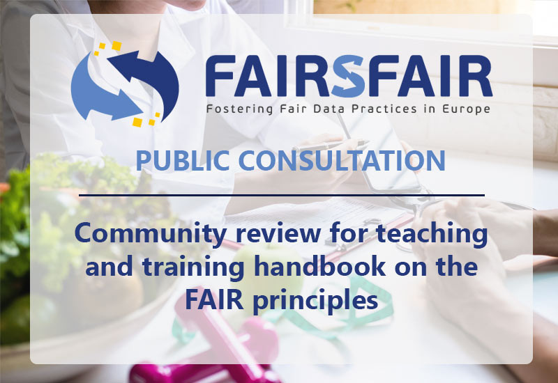 Community review for teaching and training handbook on the FAIR principles now open