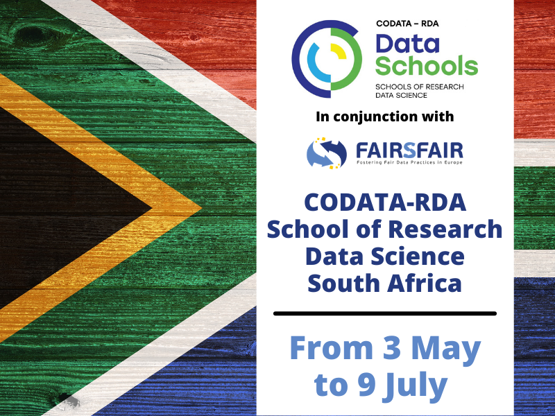 2021 - CODATA-RDA School of Research Data Science – South Africa